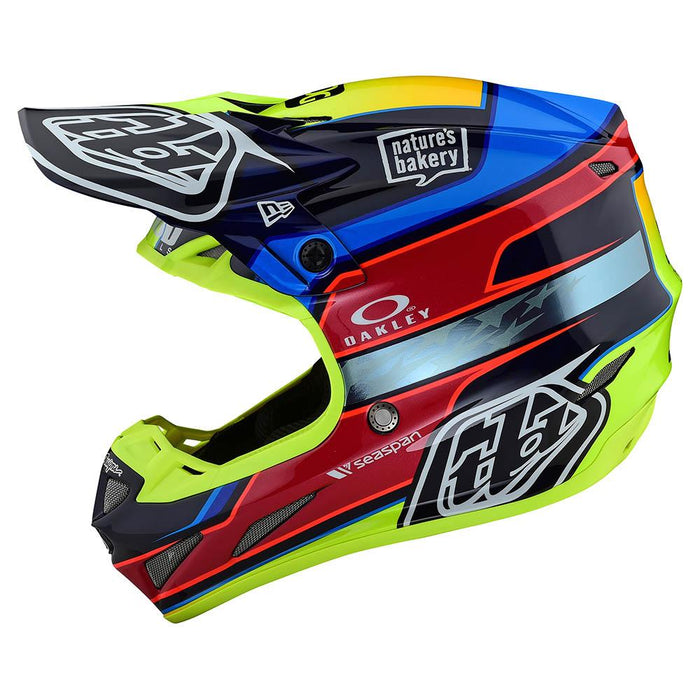 SE4 CARBON HELMET W/MIPS SPEED TEAM BLUE / YELLOW