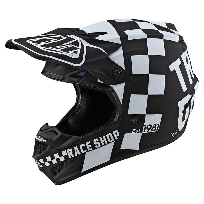 YOUTH SE4 POLYACRYLITE HELMET W/MIPS CHECKER BLACK / WHITE