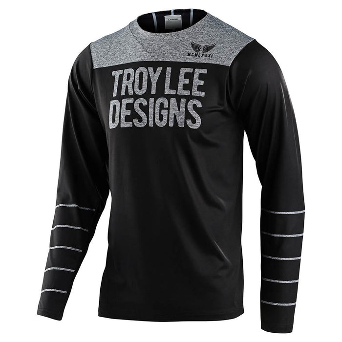 SKYLINE LS CHILL JERSEY PINSTRIPE BLACK / GRAY