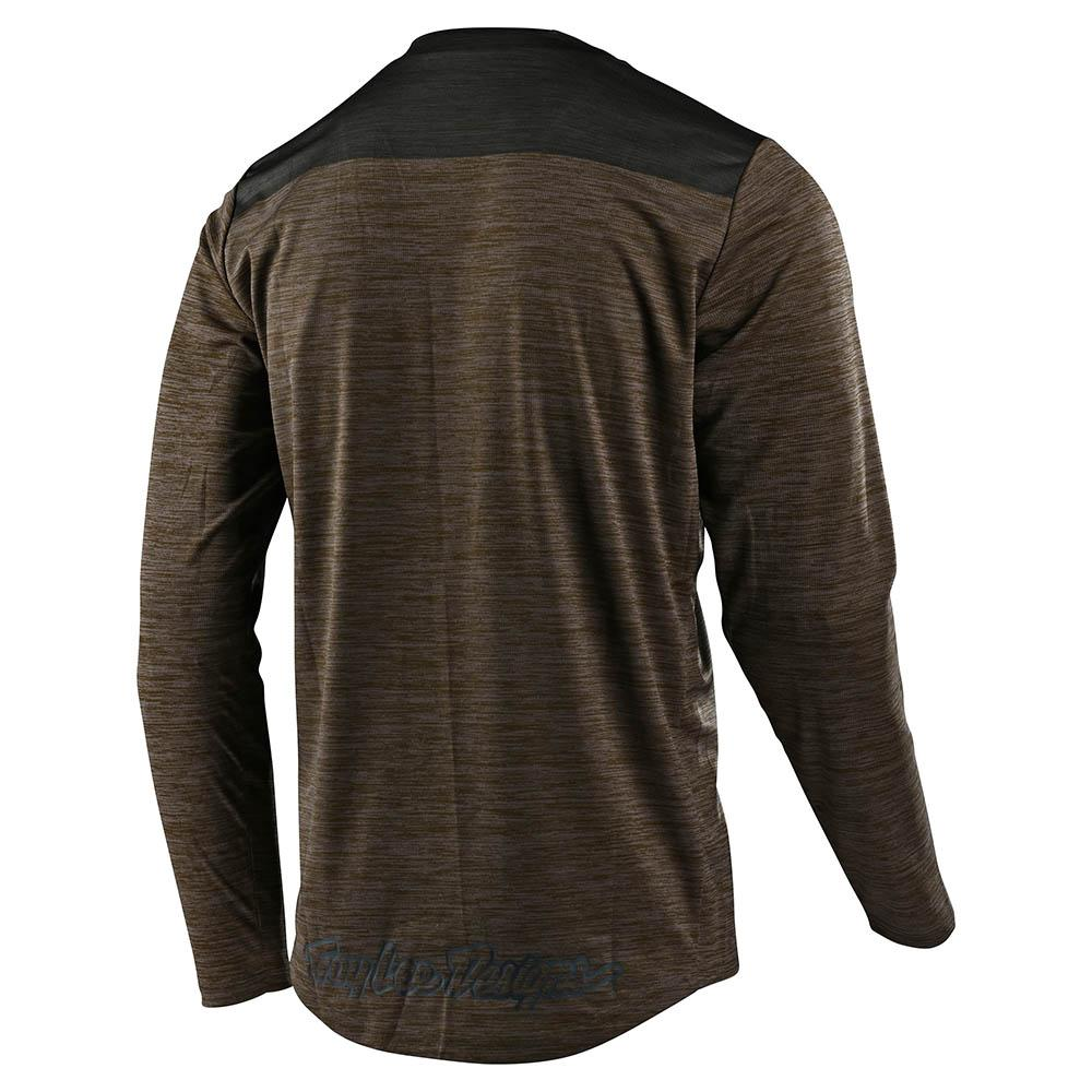FLOWLINE LS JERSEY SHIELD WALNUT / CHARCOAL