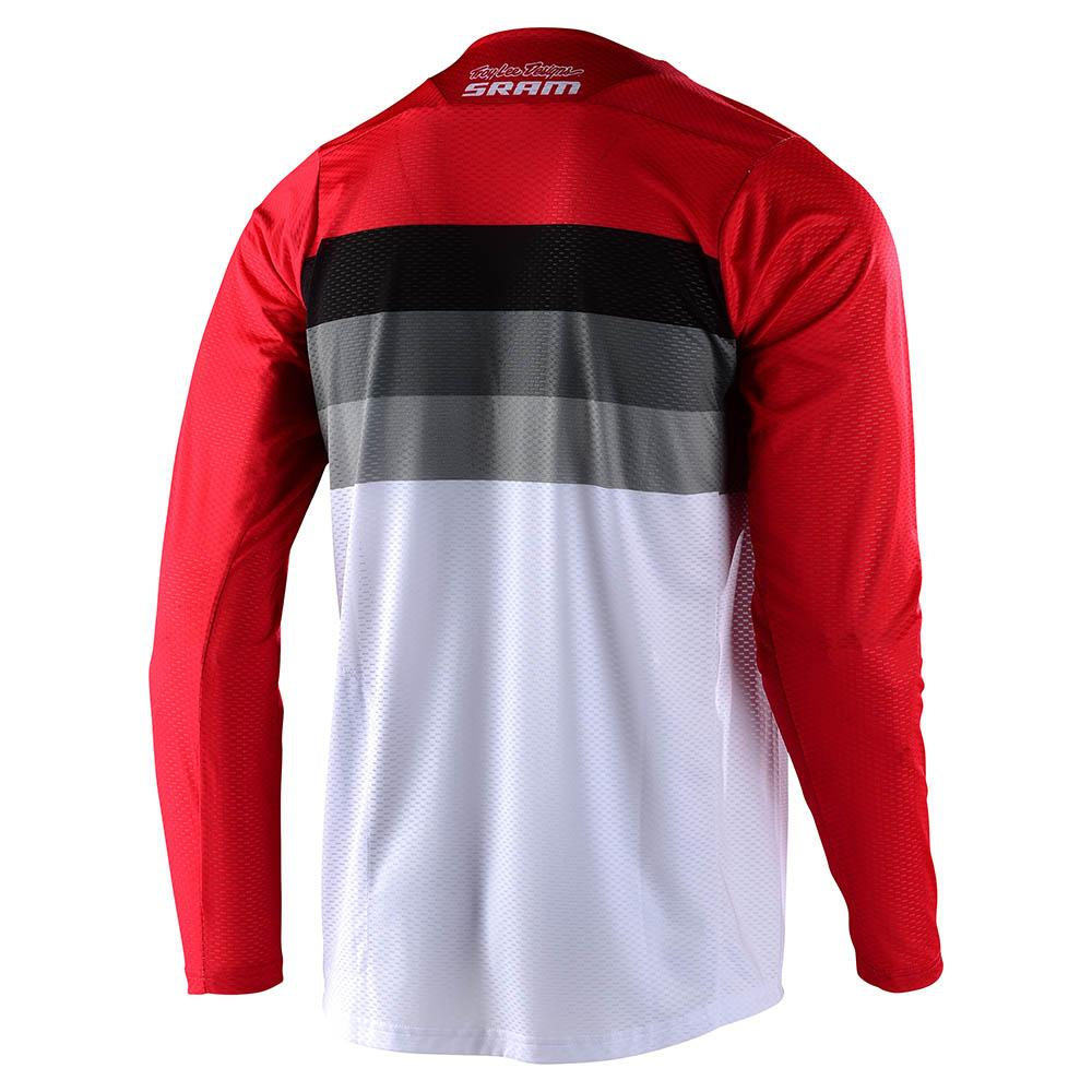 SKYLINE AIR LS JERSEY CONTINENTAL SRAM WHITE / RED