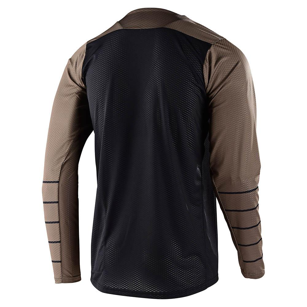 SKYLINE AIR LS JERSEY PINSTRIPE BLACK / WALNUT