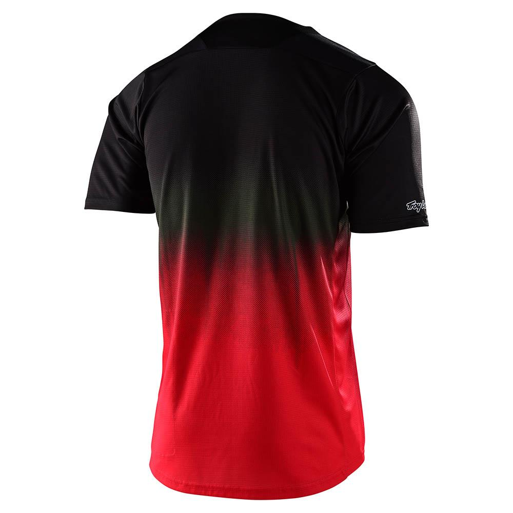 SKYLINE SS JERSEY STAIN'D BLACK / RED