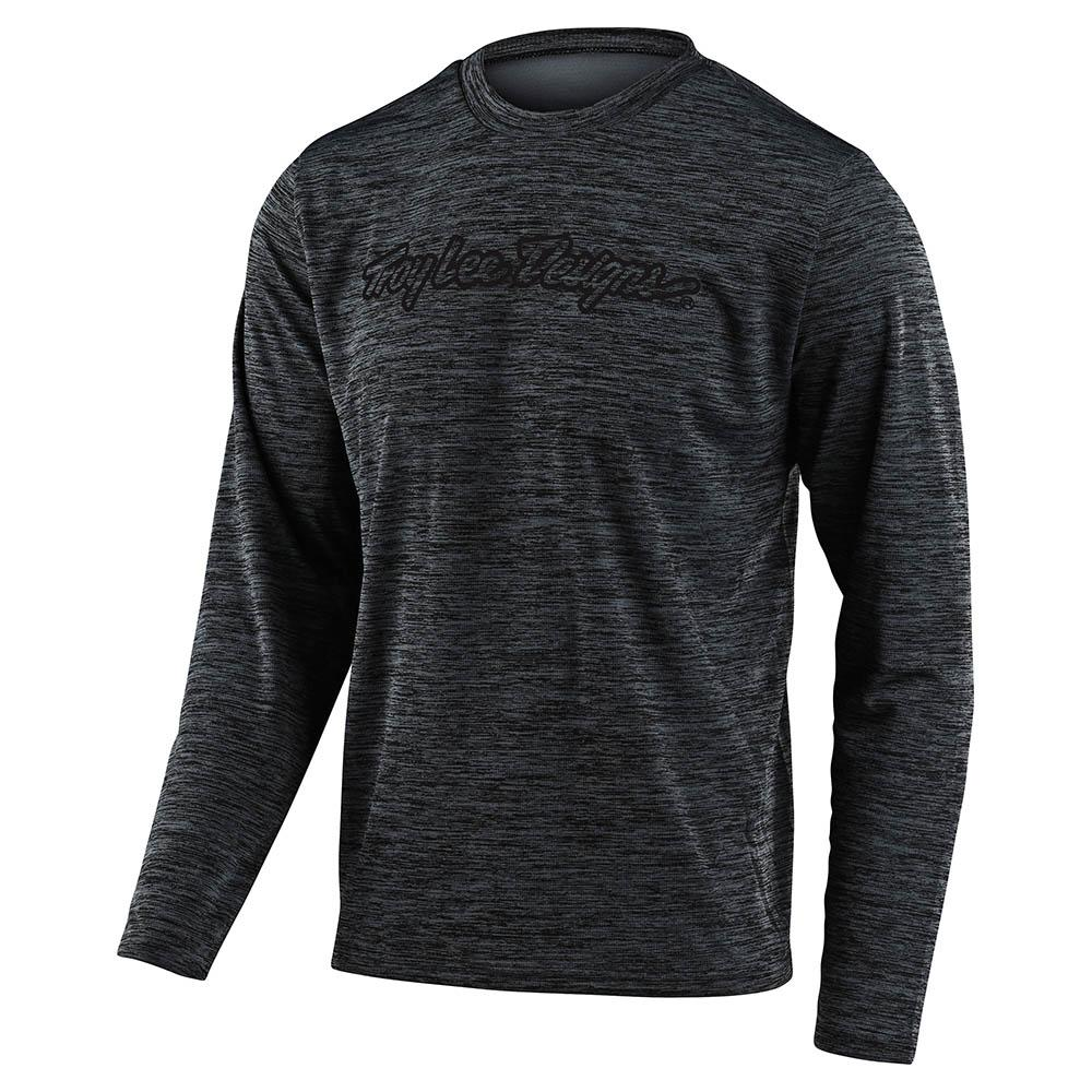 FLOWLINE LS JERSEY SIGNATURE HEATHER BLACK / GRAY