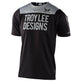 SKYLINE SS JERSEY PINSTRIPE BLOCK BLACK / GRAY