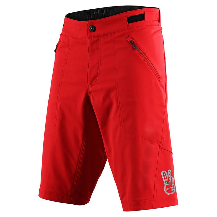 SKYLINE SHORT NO LINER SOLID RED