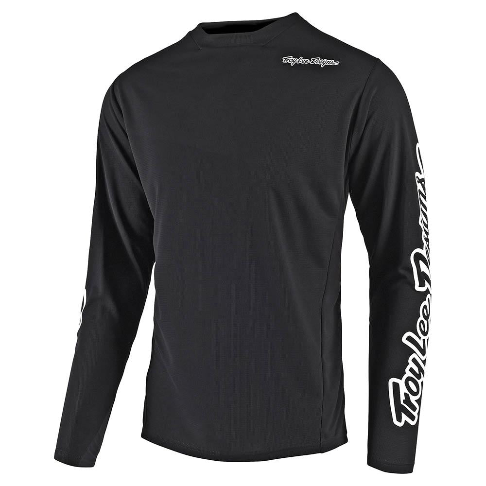 YOUTH SPRINT JERSEY SOLID BLACK