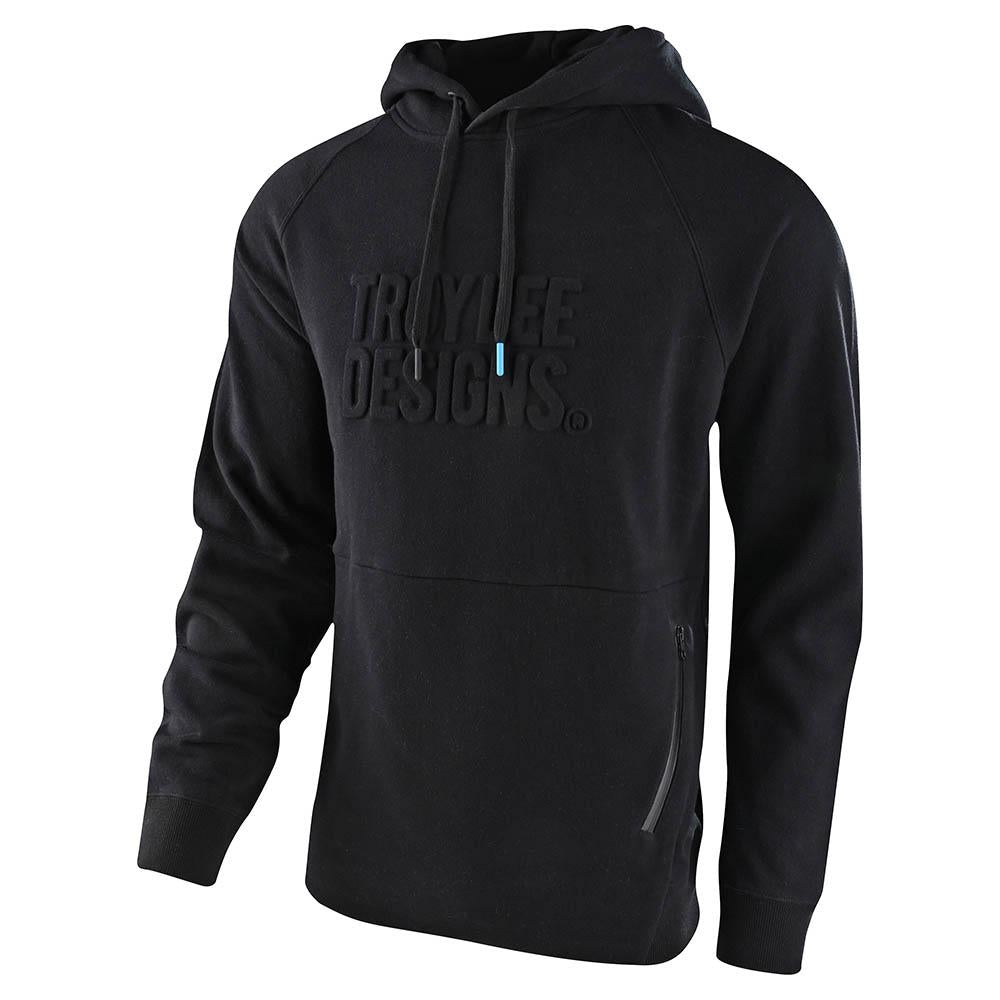 PULLOVER HOODIE BLACKOUT EMBOSSED BLACK
