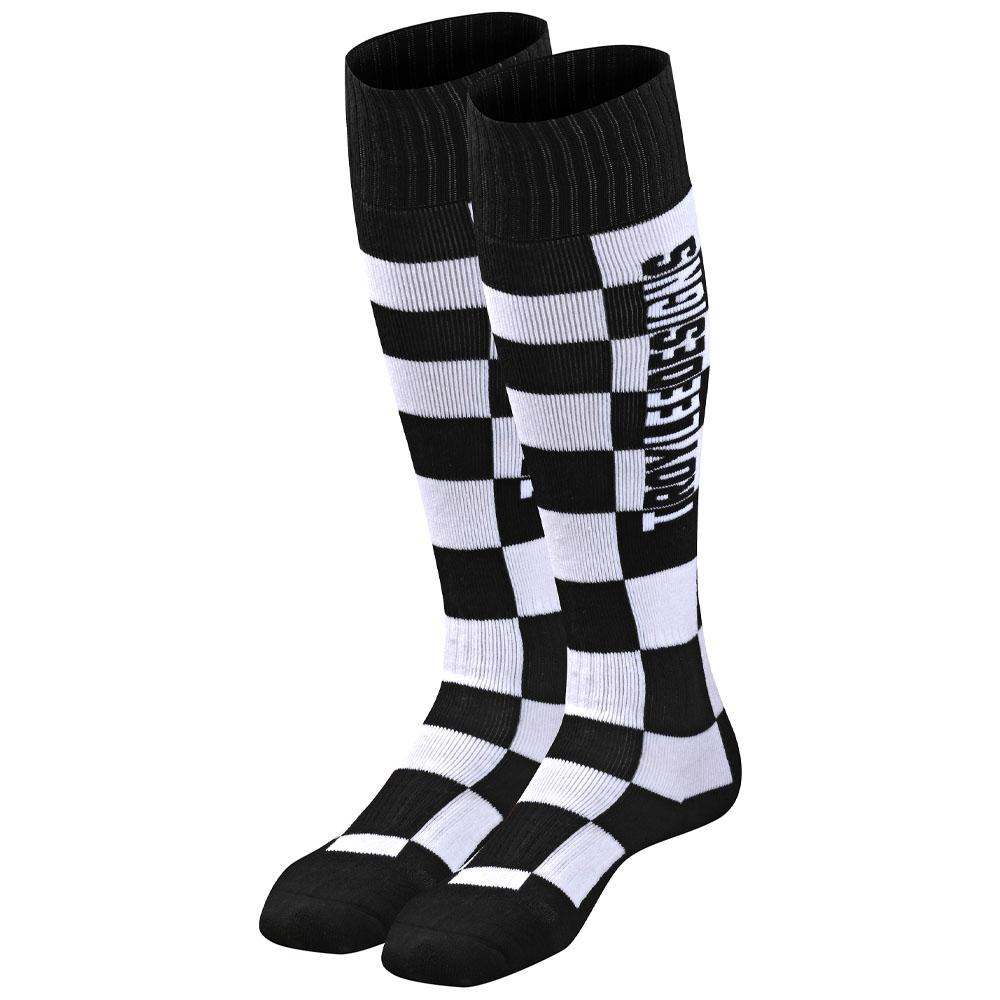 GP MX COOLMAX THICK SOCK CHECKERS BLACK