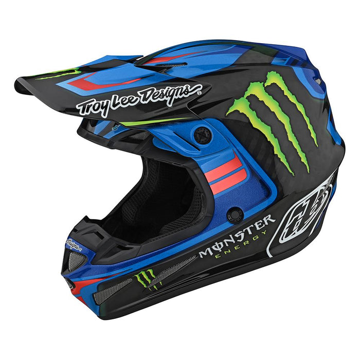 SE4 CARBON HELMET W/MIPS FLASH MONSTER BLUE