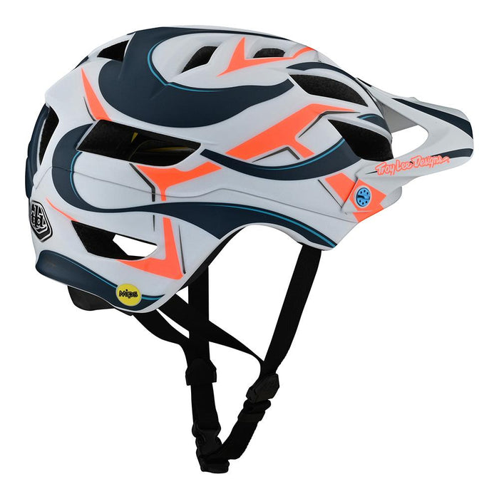 YOUTH A1 HELMET W/MIPS WELTER WHITE / MARINE