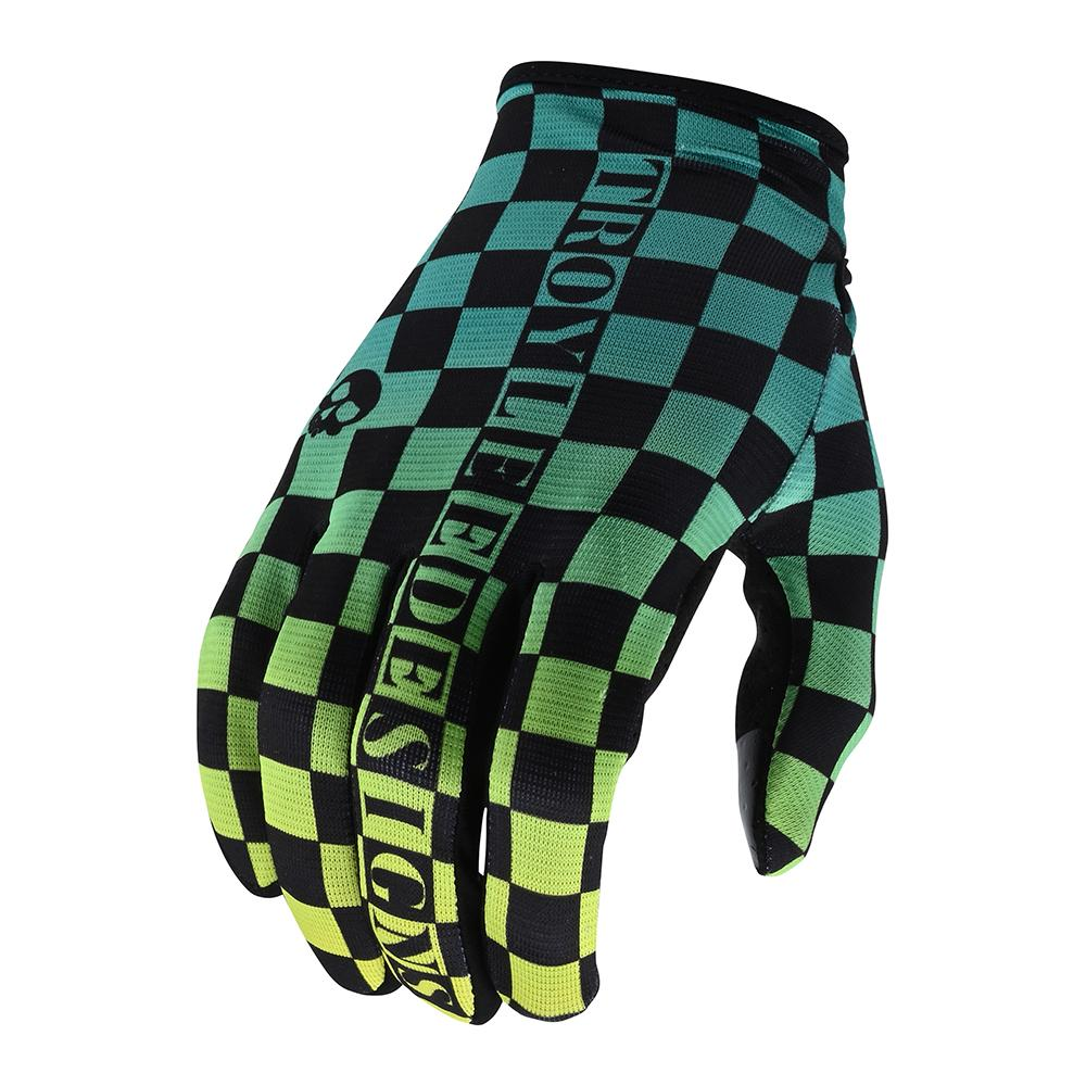 FLOWLINE GLOVE CHECKERS GREEN / BLACK