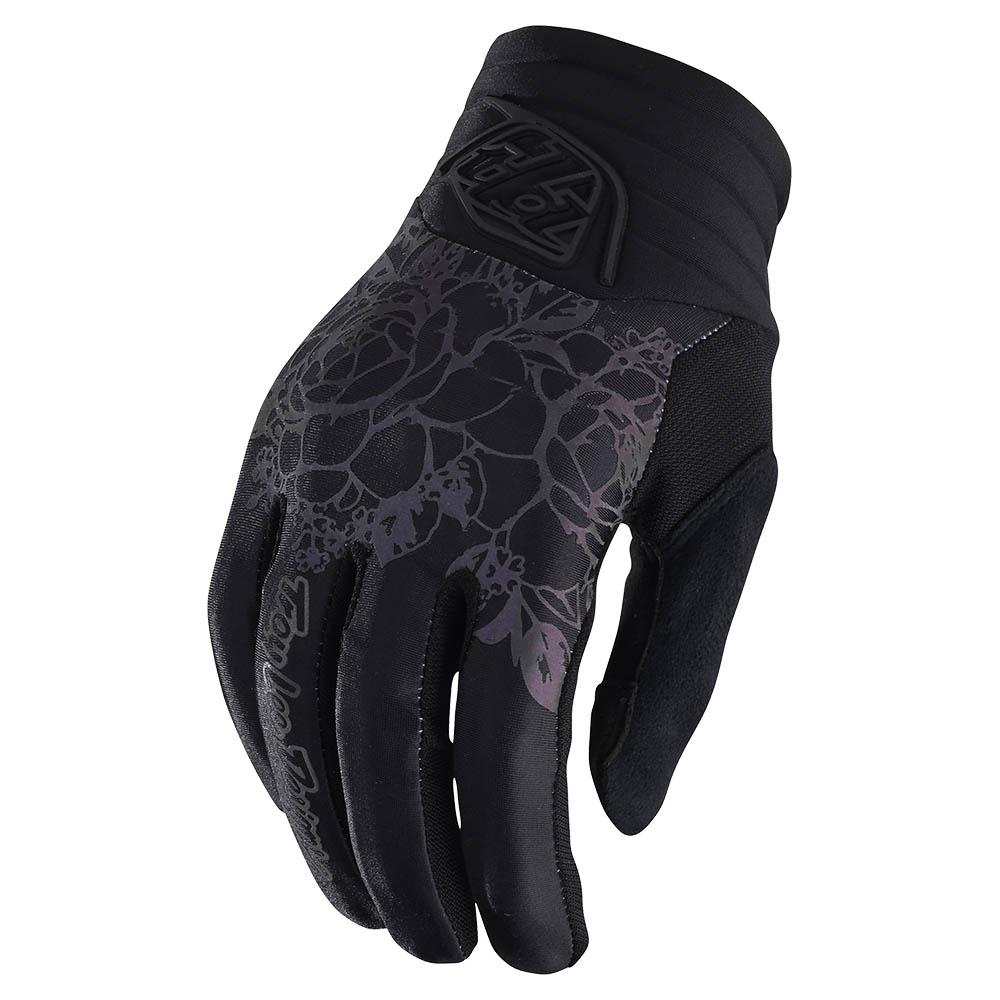 WOMENS LUXE GLOVE FLORAL BLACK