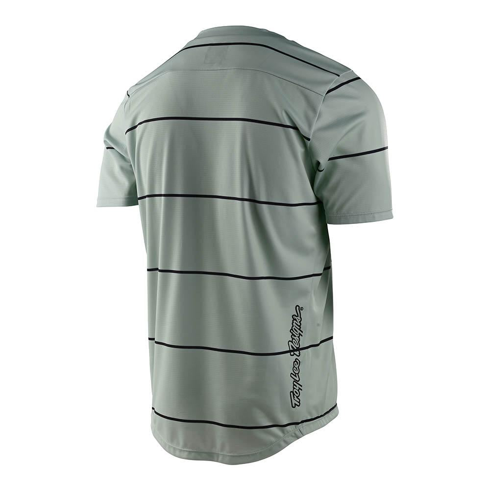 YOUTH FLOWLINE SS JERSEY STACKED SMOKE GREEN