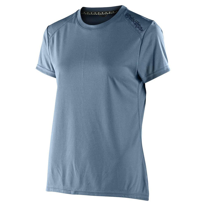 WMNS LILIUM SS JERSEY SOLID HEATHER SMOKE BLUE