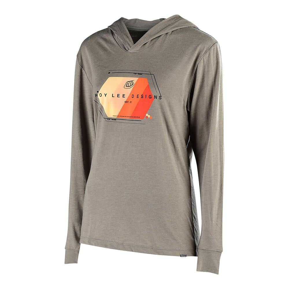 WOMENS PULLOVER TECHNICAL FADE VENETIAN GRAY