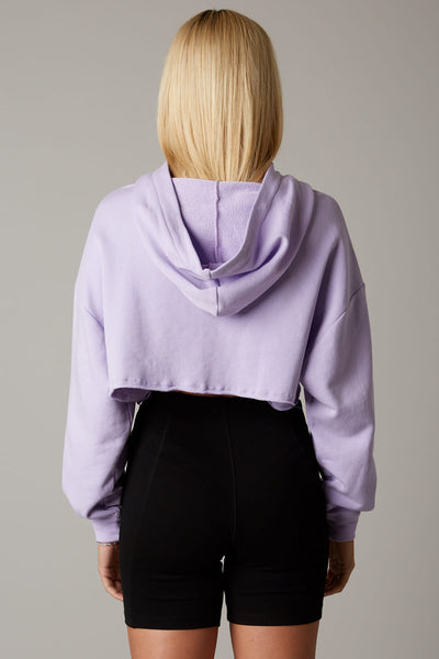 Vintage Cropped Zip-Up Hoodie
