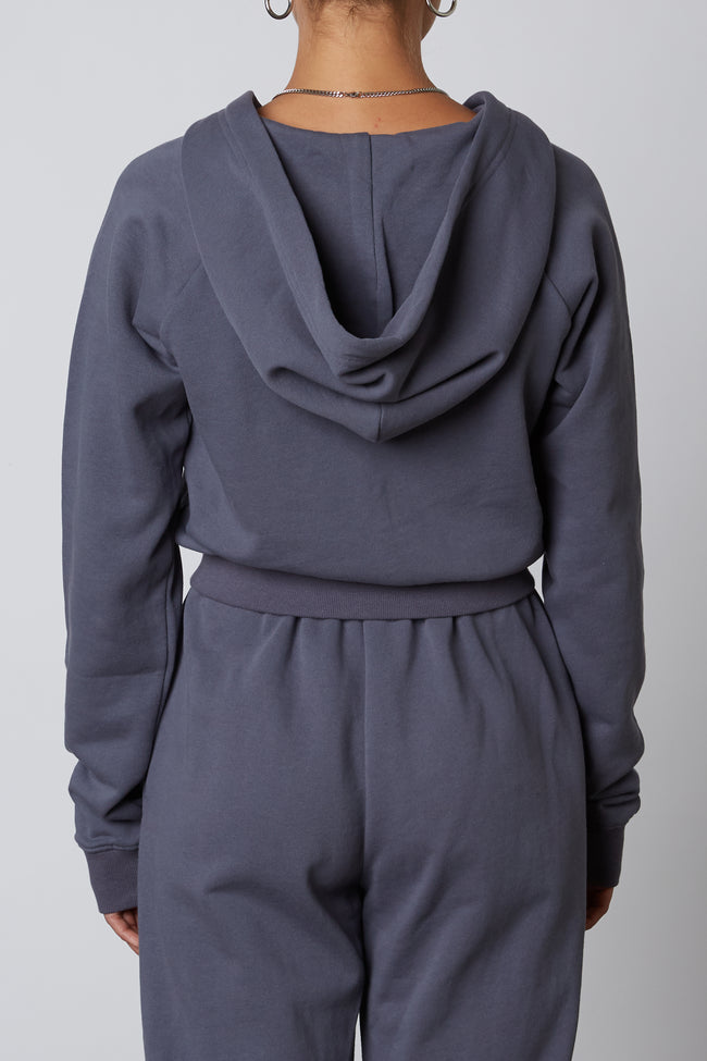 Shrunken Zip Up Hoodie