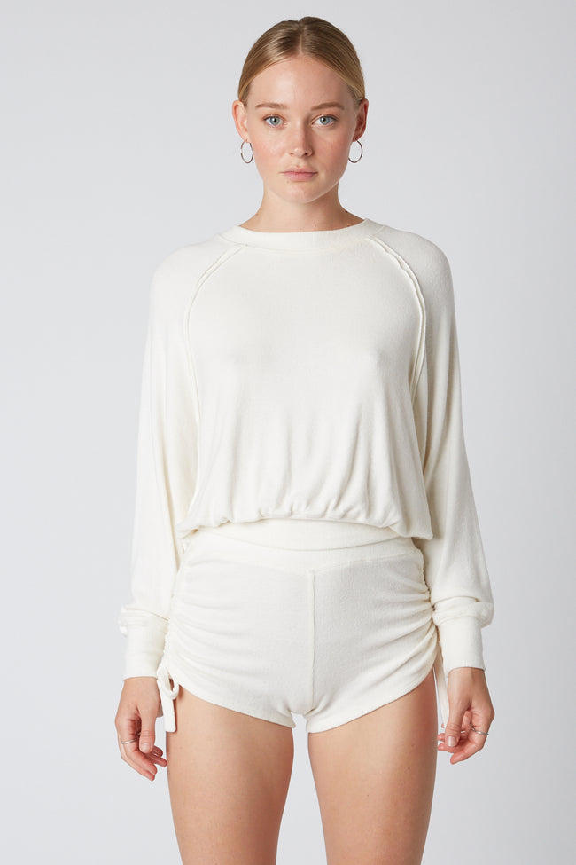 Cropped Raglan Top