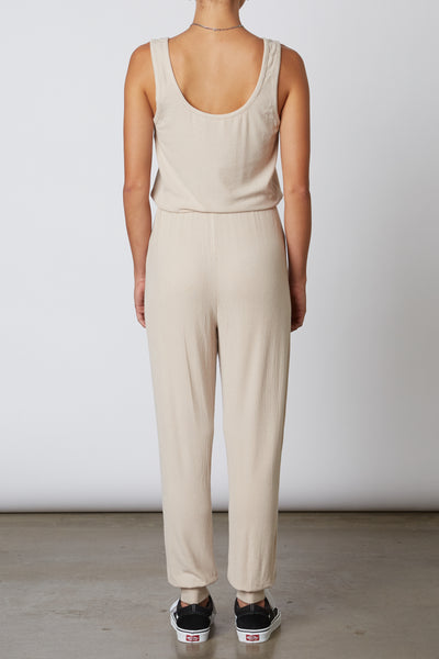 Ribbed Hacci Jumpsuit