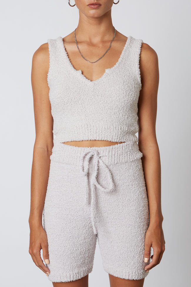 Notched Sweater Tank