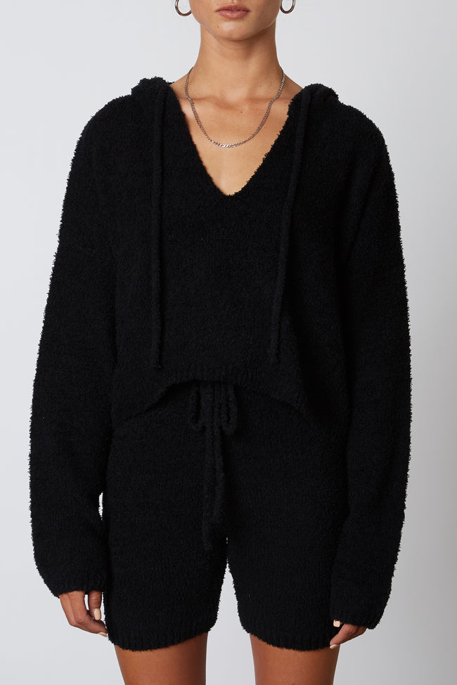 Notch Hooded Sweater