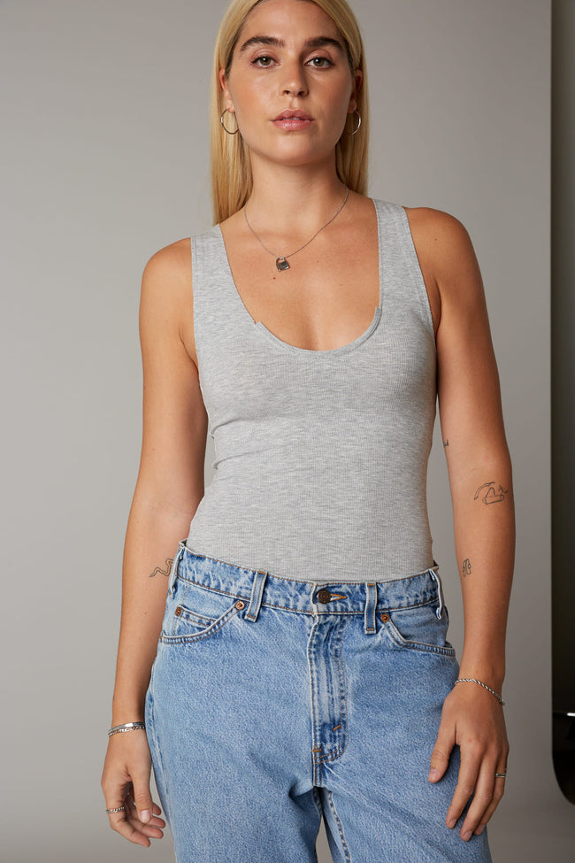 Scoop Neck Racer Tank