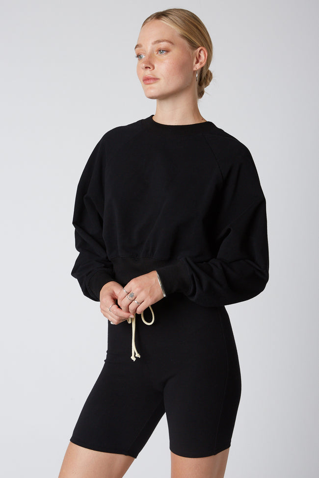 Cropped Raglan Pullover