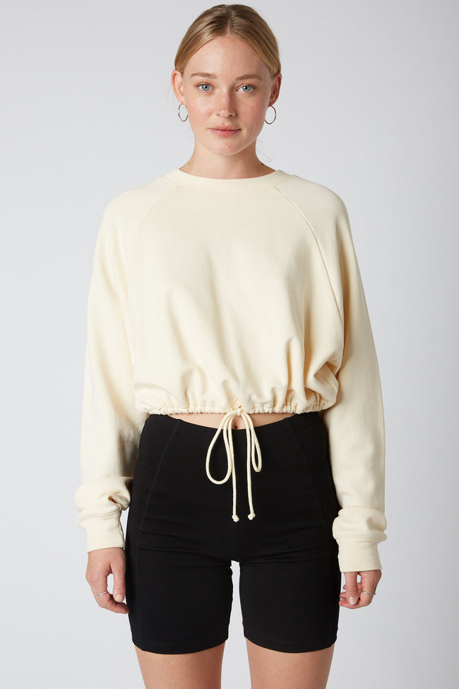 Drawstring French Terry Pullover