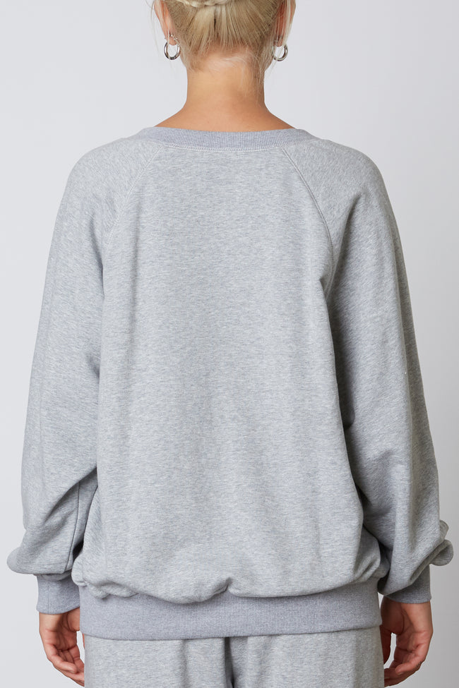 Oversized Notched Pullover