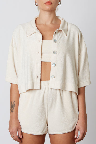 Cropped Terry Shirt