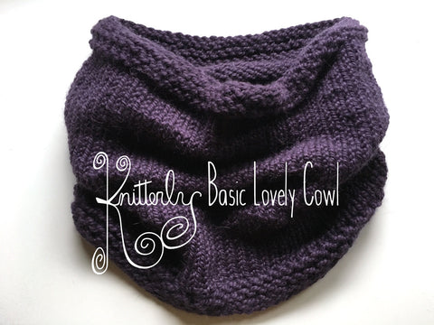 Knitterly Basic Lovely Cowl Pattern
