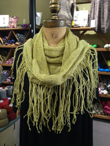 Self-Fringing Scarf/Shawl Class with SJ 1 class Tuesday June 20th 6:00 - 8:00 pm plus 2hr workshop
