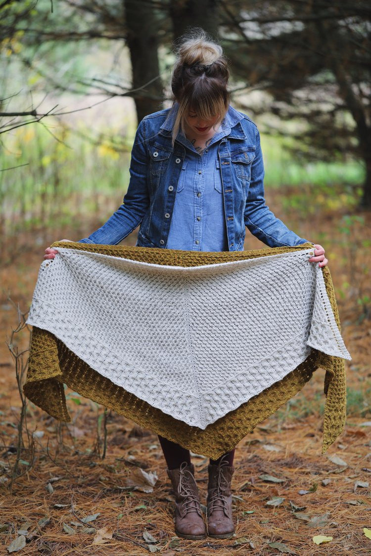 Winter Honey Shawl & Shawlette - Drea Renee Knits