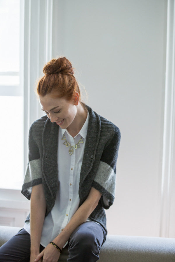 Brooklyn Tweed Escher Colorblock Cocoon Cardigan Pattern