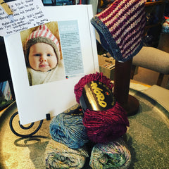 Gift Wrap Bonnet Kit - 3 Skeins Noro Silk Garden Solo + Pattern (PDF)
