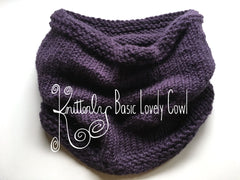 Basic Lovely Cowl Pattern (PDF) by Knitterly