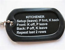 Kitchner Stitch Dog Tag