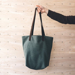 quince & co twig & horn wool project tote