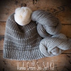 Sno Soft Hat Kit - Woolfolk Far and Sno + Pattern (PDF)