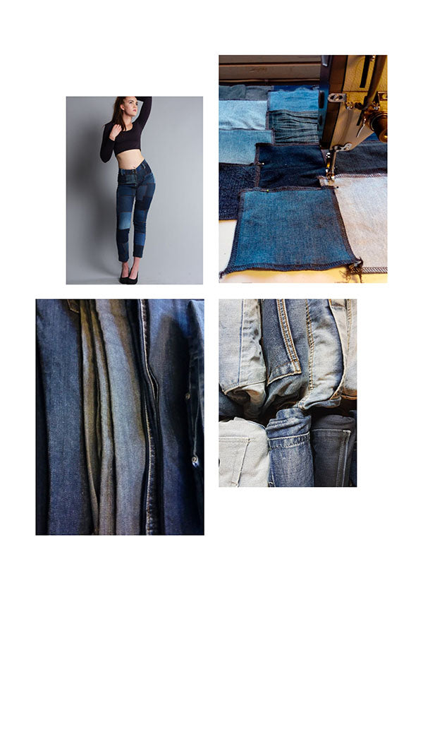 Organic clothing materials used jeans