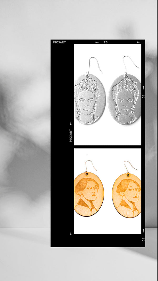 Helene Schjerfbeck and Frida Kahlo in jewelry