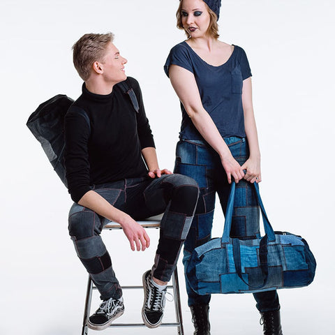 The Piece of Jeans selection includes jeans and accessories made from jeans