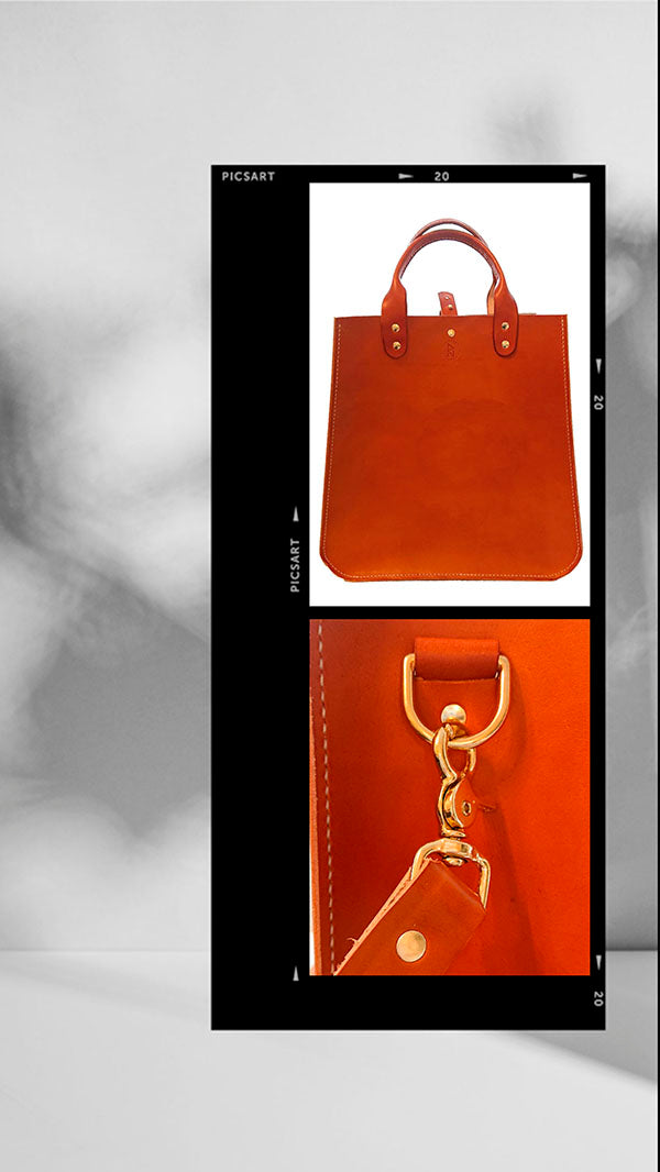 Organic vegetable tanned leather handmade