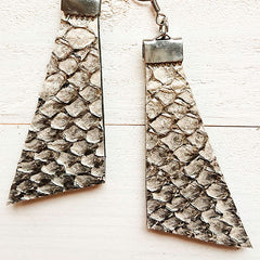 Fish Leather Earrings Anette Ahokas Design