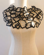 Upcycler Loan company black leather lace jewelry