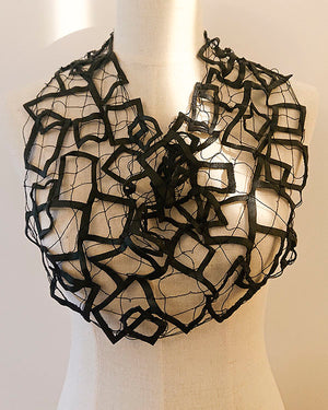 Upcycler loan necklace with leather lace