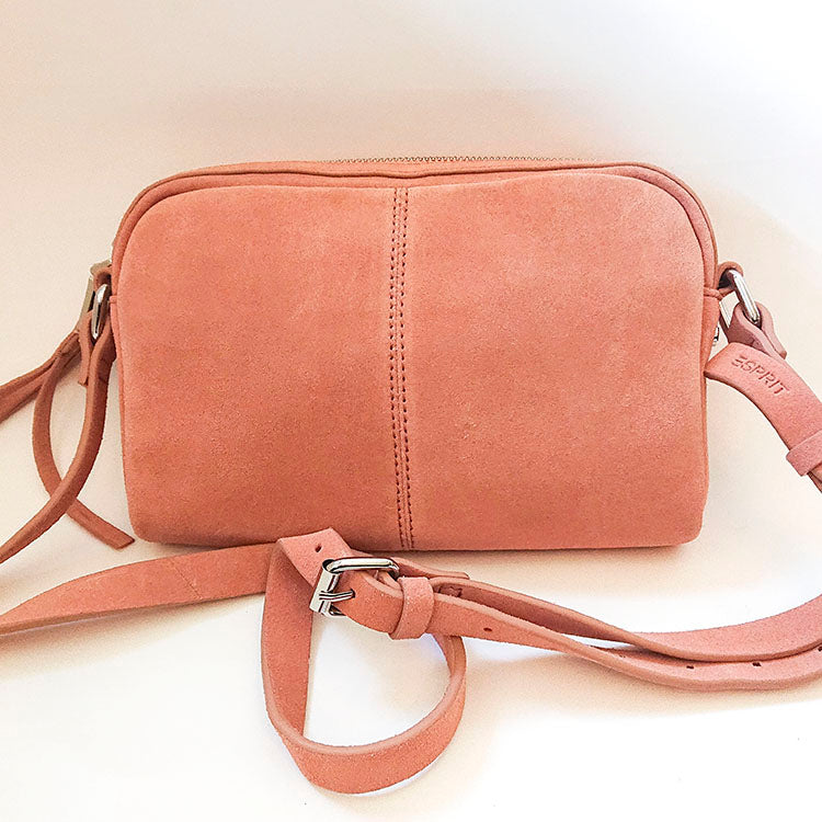Suede shoulder bag Esprit second hand