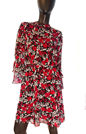 Esprit long-sleeved floral dress second hand