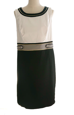 Case dress black and white Gerry Weber used
